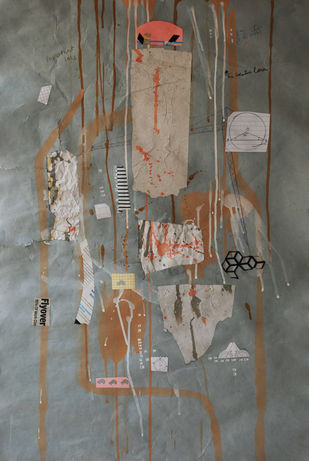 Flyover by Harpreet Singh, Abstract Painting, Acrylic on Paper, Brown color