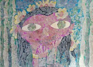 The Girl - II by Ramakanth Ponnaganti, Pop Art Drawing, Mixed Media on Paper, Brown color