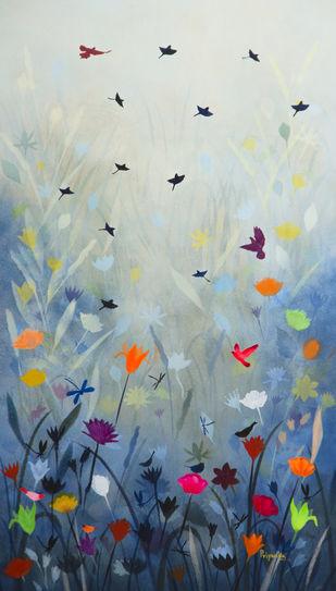 April Digital Print by Priyanka Waghela,Expressionism