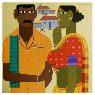 Couple -3 Digital Print by Kandi Narsimlu,Traditional