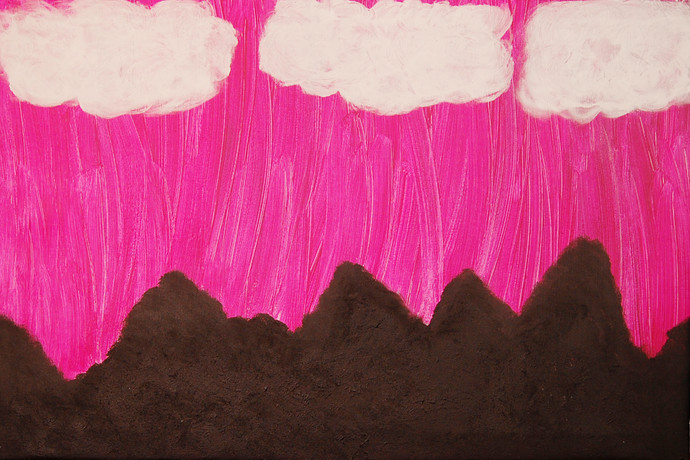Beauty of Nature by Najmuddin Kachwala, Abstract Painting, Acrylic on Canvas, Pink color
