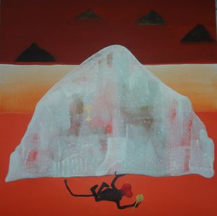 Purity by Yogeeta Yadav, Expressionism Painting, Acrylic on Canvas, Brown color