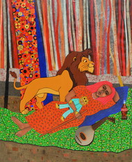 banti ki mammy by Himanshu Lodwal, Pop Art Painting, Mixed Media on Canvas, Brown color