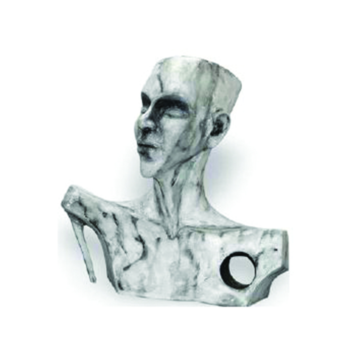 Esoteric III by Renuka Sondhi Gulati, Art Deco Sculpture | 3D, Fiber Glass, White color