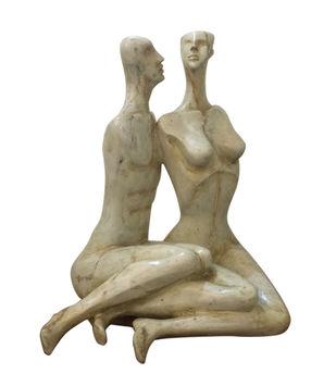In Conversation by Renuka Sondhi Gulati, Art Deco Sculpture | 3D, Fiber Glass, White color