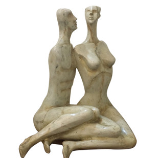 In Conversation by Renuka Sondhi Gulati, Art Deco Sculpture | 3D, Fiber Glass, White color