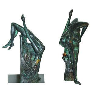 Expanding Horizons by Renuka Sondhi Gulati, Art Deco Sculpture | 3D, Bronze, Gray color