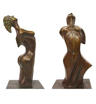The Phoenix Woman by Renuka Sondhi Gulati, Art Deco Sculpture | 3D, Bronze, White color