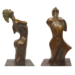 The Phoenix Woman by Renuka Sondhi Gulati, Art Deco Sculpture | 3D, Bronze, White color