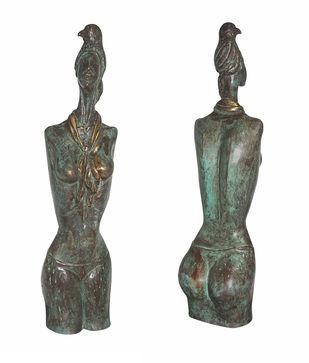Soaring High by Renuka Sondhi Gulati, Art Deco Sculpture | 3D, Fiber Glass, White color