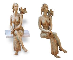 Flights of Thoughts by Renuka Sondhi Gulati, Art Deco Sculpture | 3D, Fiber Glass,