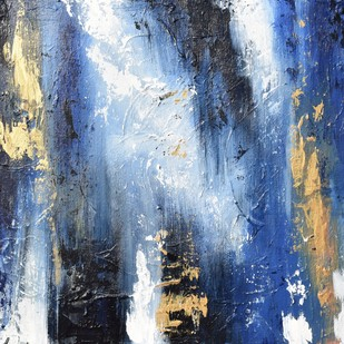 Into the Deep by Shubhangi Singh, Abstract Painting, Acrylic on Board, Blue color