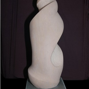 Untitled by Vikram Waghmode, Art Deco Sculpture | 3D, Stone, Gray color