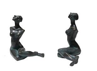 Searching the Divine by Renuka Sondhi Gulati, Art Deco Sculpture | 3D, Bronze, White color