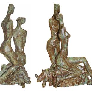 My Valentine by Renuka Sondhi Gulati, Art Deco Sculpture | 3D, Bronze, White color