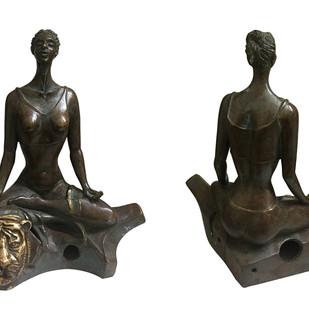 My Inner Search by Renuka Sondhi Gulati, Art Deco Sculpture   3D, Bronze, White color