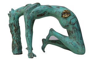Expansion by Renuka Sondhi Gulati, Art Deco Sculpture | 3D, Bronze, White color