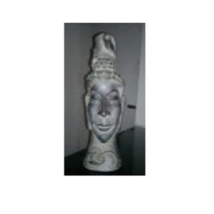 Buddha by Renuka Sondhi Gulati, Art Deco Sculpture | 3D, Fiber Glass, White color