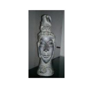 Buddha by Renuka Sondhi Gulati, Art Deco Sculpture | 3D, Fiber Glass, White color