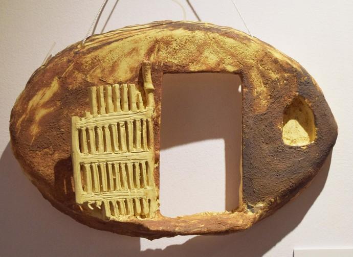 Surrounding Walls V by Ajaysingh Bhadoriya, Art Deco Sculpture | 3D, Stoneware , Brown color