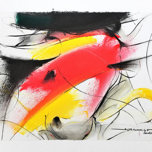 BULL-686 by Sujith Kumar GS Mandya, Expressionism Painting, Oil on Canvas, Gray color