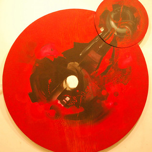 research-002 by vennimalai, Expressionism Painting, Acrylic on Canvas, Red color