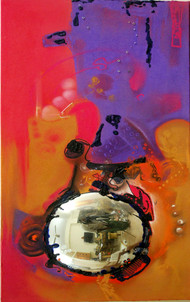 research inner reflection by vennimalai, Abstract Painting, Mixed Media,
