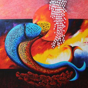 Emotions Series - 38 Digital Print by Sharad Ambulkar,Expressionism