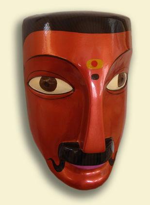 Man by Kandi Narsimlu, Art Deco Sculpture   3D, Fiber Glass, Beige color