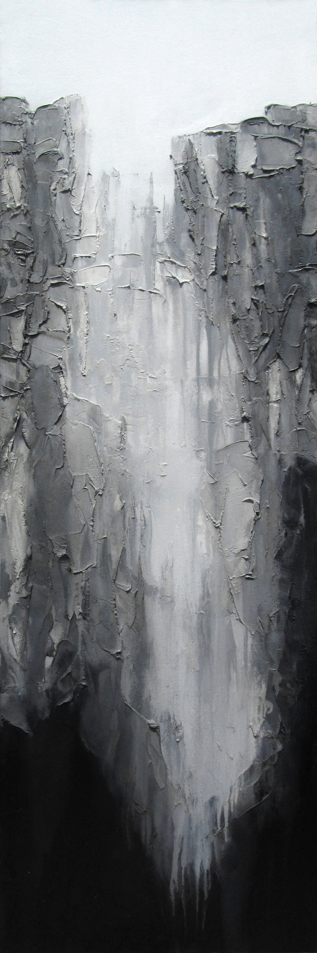 Grey Depth #1 by Abhishek Kumar, Abstract Painting, Oil on Canvas, Gray color