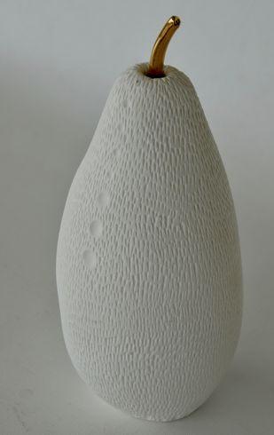 Fruit, the womb of creation 5 by Shweta Mansingka, Art Deco Sculpture | 3D, Ceramic, Gray color