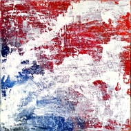 White by Manpreet , Abstract Painting, Oil on Canvas Board, Pink color