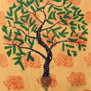 Jaya Vriksh Digital Print by Sumit Mehndiratta,Impressionism