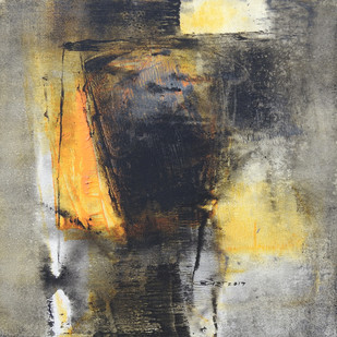 UNTITLED by Umesh Patil, Abstract Painting, Acrylic on Canvas, Gray color
