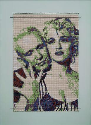 "Affair ""Madonna & Jean Paul Gaultier"" by Emeldart, Expressionism Painting, Fiber Glass, Beige color"