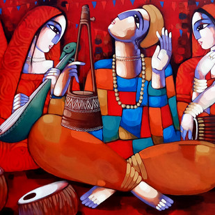 MUSIC (BAUL) Digital Print by Sekhar Roy,Decorative