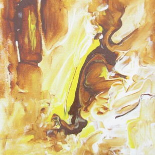Freedom by Broti Ganguly, Abstract Painting, Acrylic on Canvas, Beige color