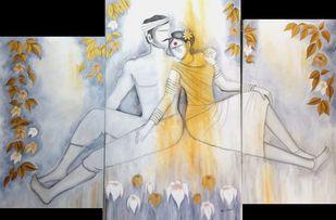 Paradise Digital Print by Janaki Injety,Expressionism