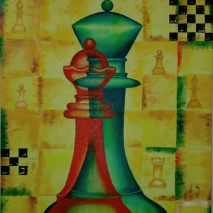 Collaboration by Swati Joshi Phatak, Expressionism Painting, Acrylic on Canvas, Green color
