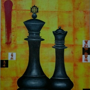 Winning Stroke by Swati Joshi Phatak, Expressionism Painting, Acrylic on Canvas, Green color