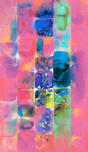 Untitled 001 by Sunil Balkawade, Abstract Painting, Mixed Media on Canvas, Pink color