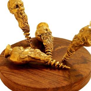 Screwed up by NAVJOT SOHAL, Art Deco Sculpture | 3D, Brass, Brown color