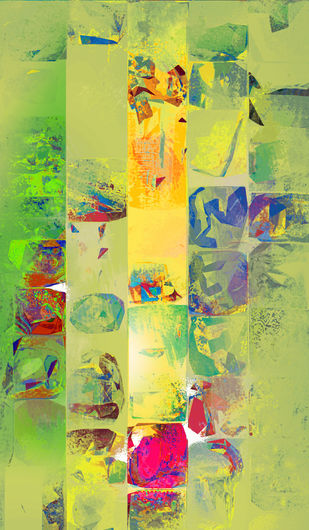 Untitled 003 by Sunil Balkawade, Abstract Painting, Mixed Media on Canvas, Beige color