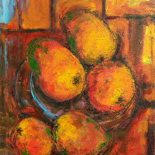 Indian Summer-V: Still Life with Aam (Mangoes) Digital Print by Animesh Roy,Expressionism