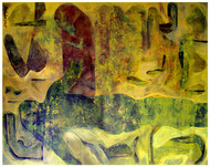 Mindscape I by Prabin Kumar Nath, Expressionism Painting, Acrylic on Canvas, Green color