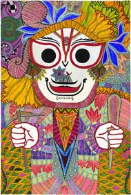 Balram by Malavika Reddy, Pop Art Digital Art, Digital Print on Canvas, Brown color