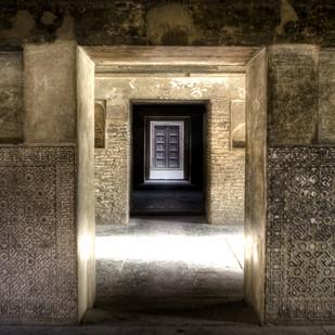 Doorways to the Past by Gautam Vir Prashad, Image Photography, Giclee Print on Hahnemuhle Paper, Brown color
