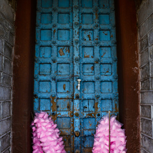 Cotton Candy Doorway by Gautam Vir Prashad, Image Photography, Giclee Print on Hahnemuhle Paper, Blue color
