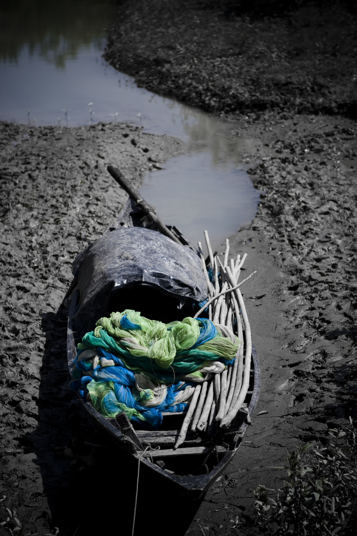 Fishing Boat by Gautam Vir Prashad, Image Photography, Giclee Print on Hahnemuhle Paper, Gray color
