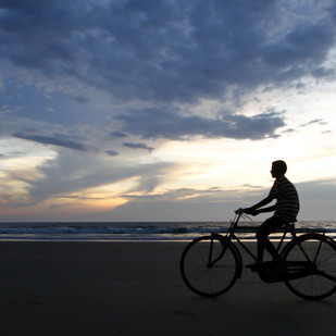 Sunset Biker by Gautam Vir Prashad, Image Photography, Giclee Print on Hahnemuhle Paper, Gray color